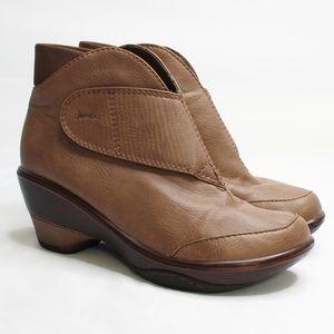 JAMBU | Vegan Esmeralda Brown Ankle Booties 8.5